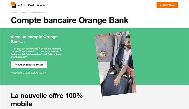 Orange Bank Bienvenue