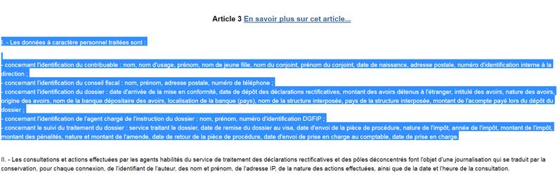 traitement annulé conseil d'état CNIL