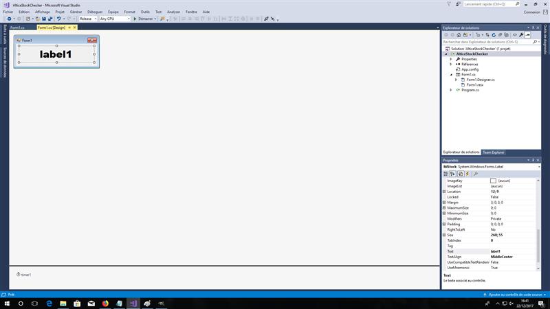 Visual Studio C# WinForms