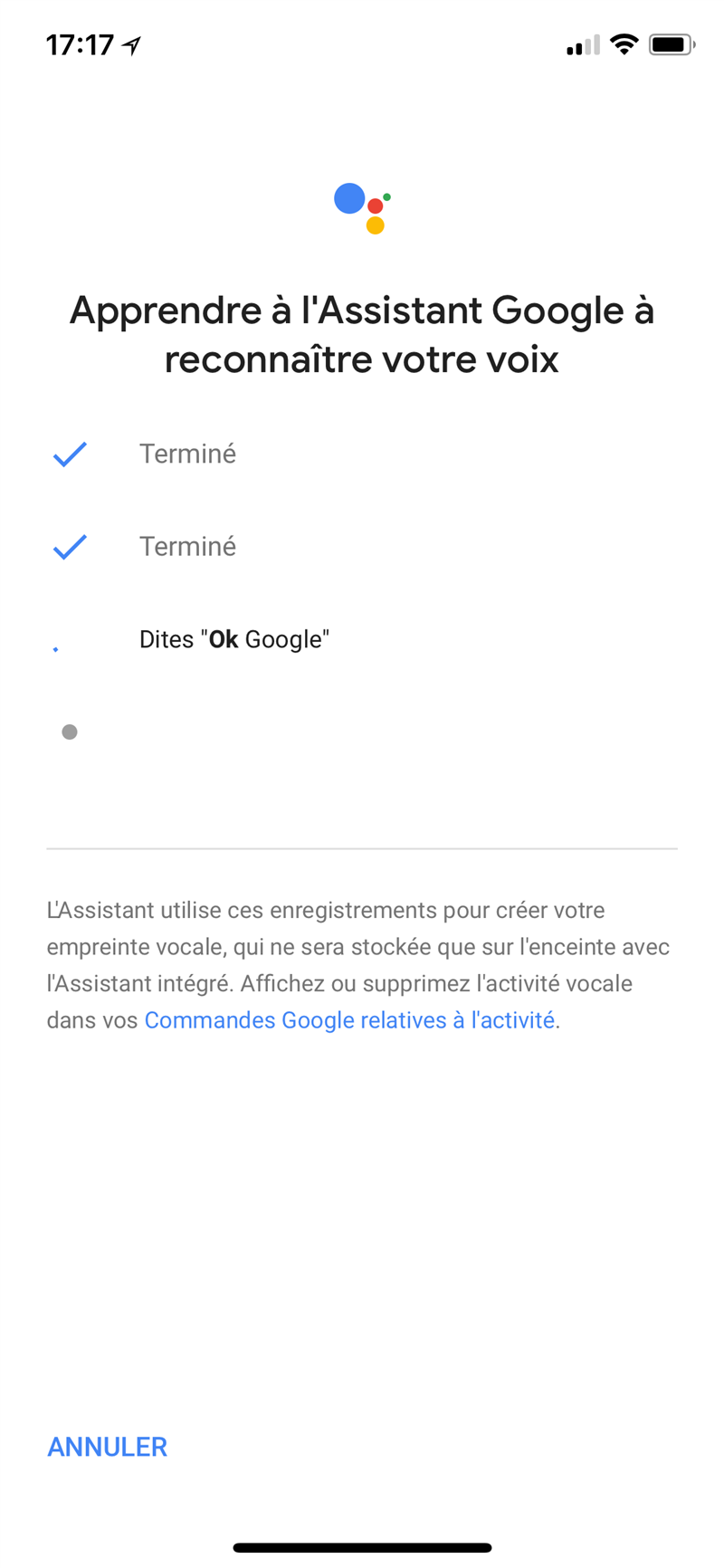 Google Home Interface
