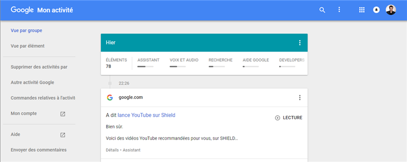 Google Hom Activité Fail