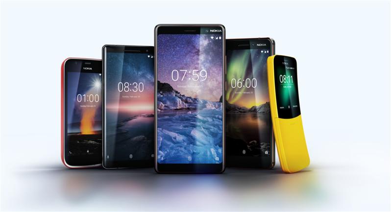 Nokia tous les smartphones MWC 2018