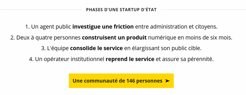 start-up d'état dinsic