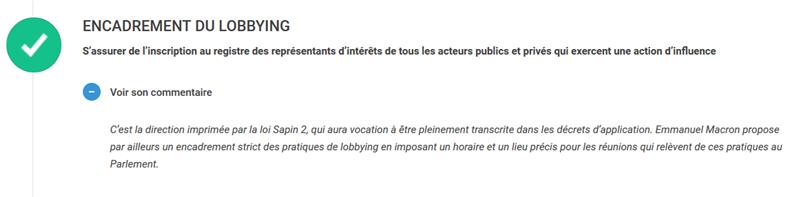 macron registre lobbyistes