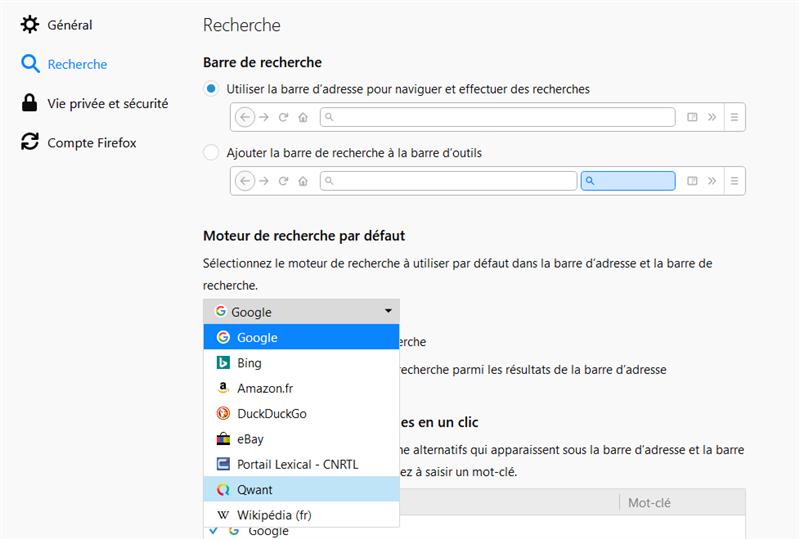 Firefox Qwant