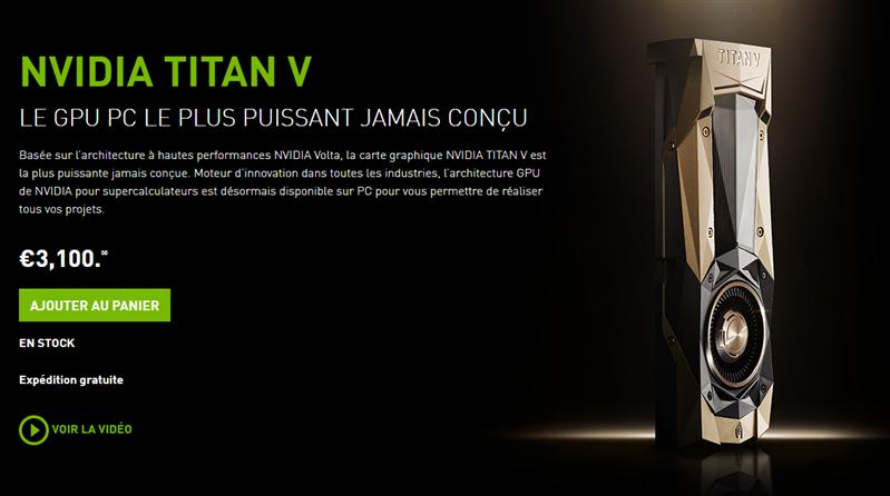 NVIDIA Titan V Stock