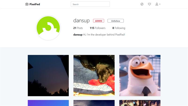 PixelFed profil Daniel Supernault