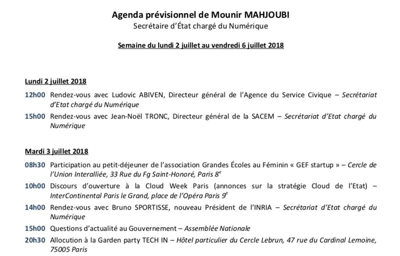 agenda mahjoubi
