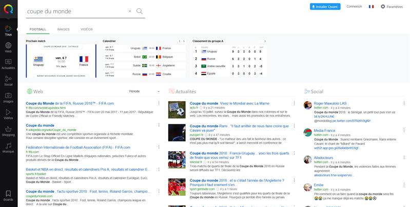 Qwant Sports Coupe du monde