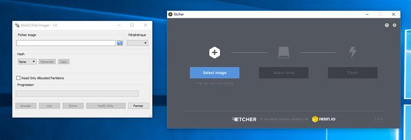 Etcher Win32DiskImager
