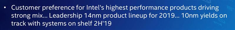 Intel 10 nm 2019