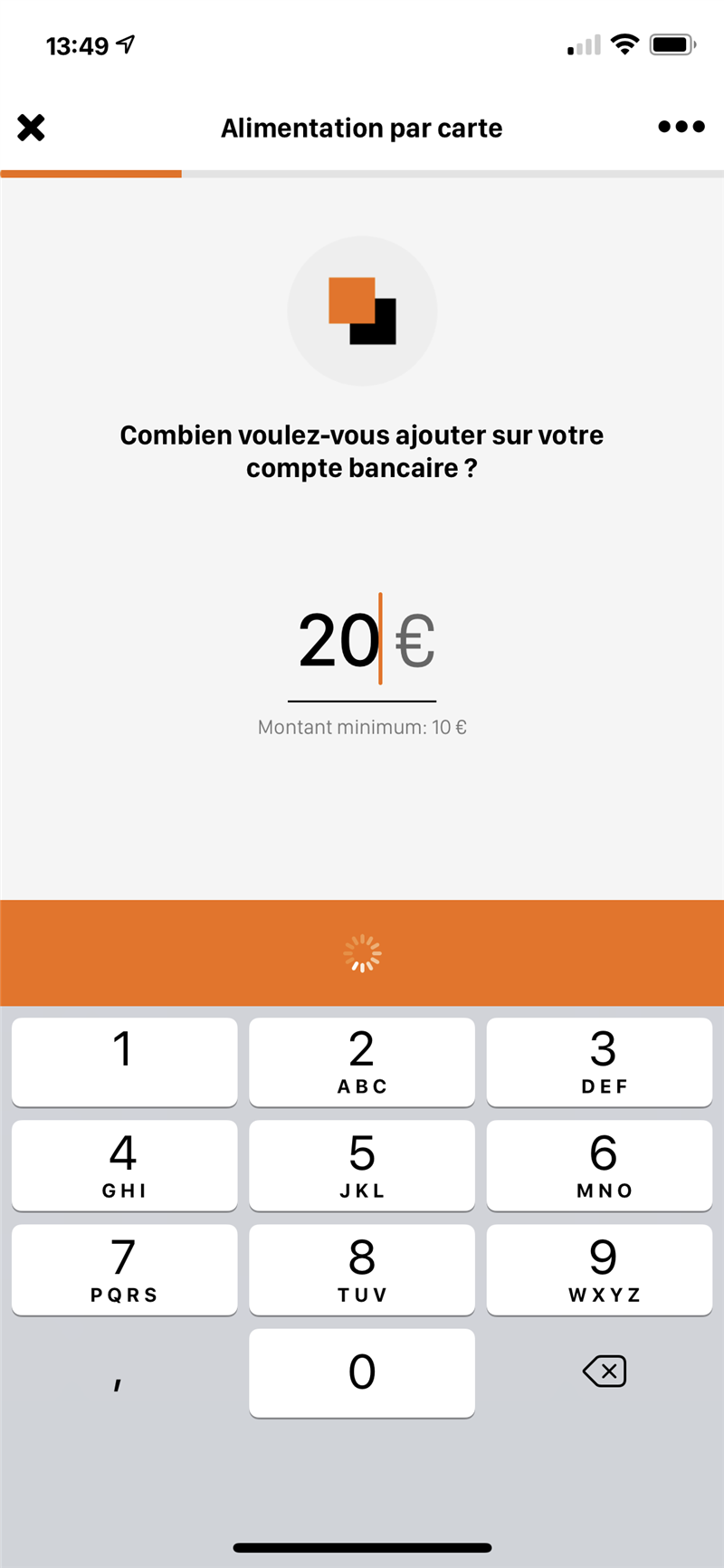 Orange Bank Recharge CB