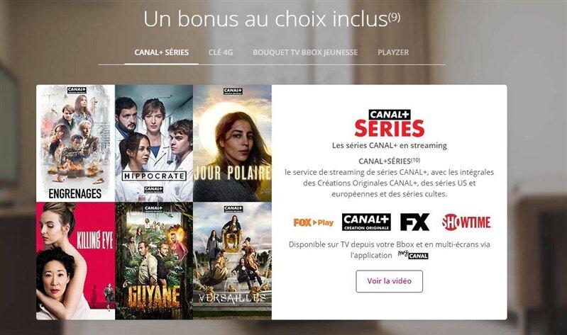 Bbox Bonus Canal+ Séries