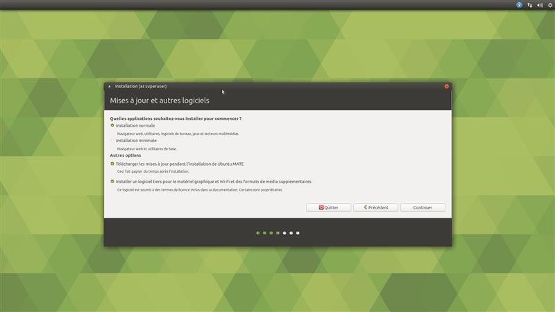 Ubuntu MATE Installation pilotes