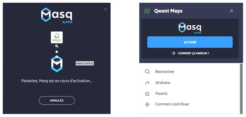 Qwant Masq Maps