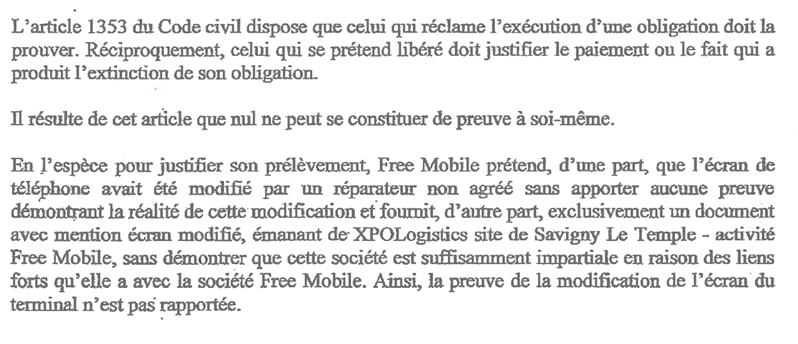 free mobile mauvais état jugement