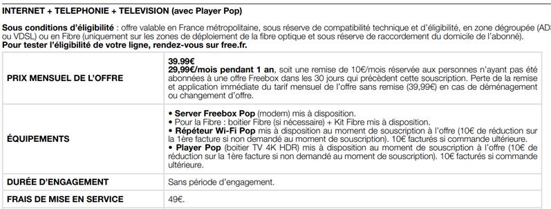 Freebox Pop
