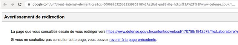 Google CSE redirection