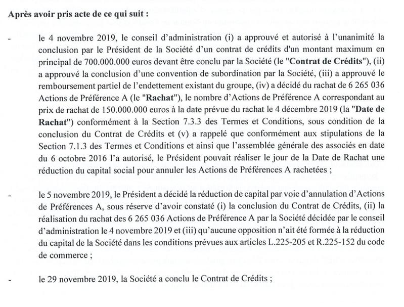 OVHcloud Dette 2019 700 Millions d'euros