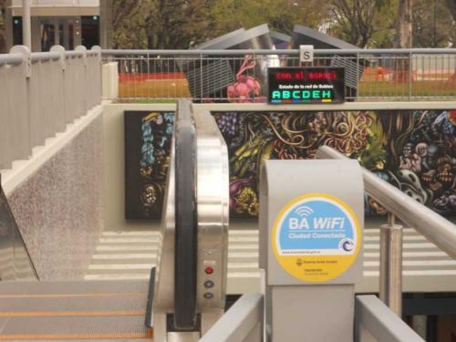 Présentation des services WiFi dans le métro SUBTE de Buenos Aires (d.r. Gomex)