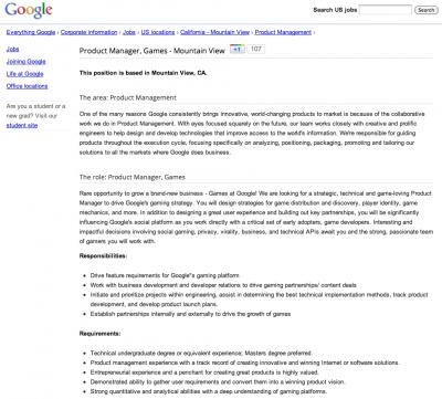 Google annonce emploi