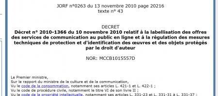 décret labellisation pur SMAD VOD itunes
