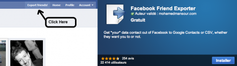 Extension Chrome contacts Facebook Google plus