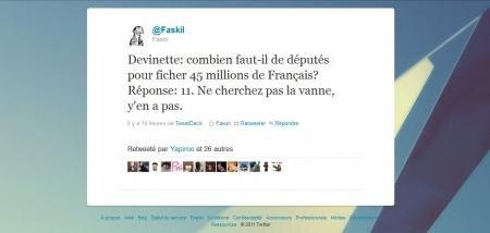 11 députés 45 millions de français