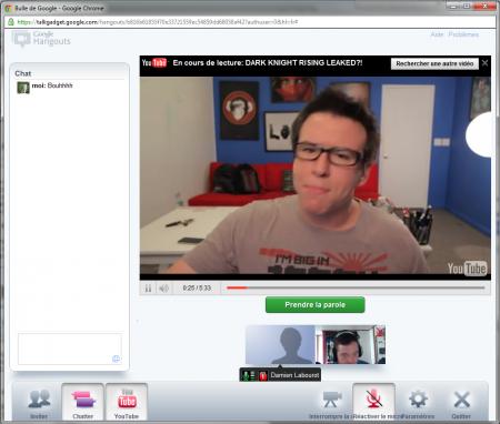 Google+ bulle vidéo exemple