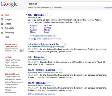 Lesoir Google