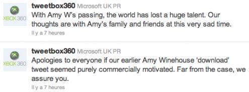 Twitter amy winehouse microsoft
