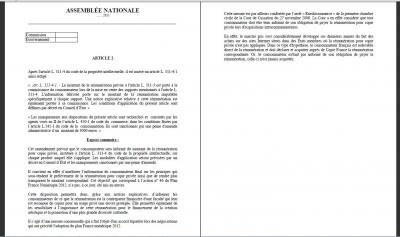 projet de loi culture olivier henrard copie privée