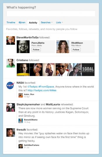 Twitter Flux Activité