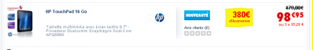 HP Touchpad Cdiscount