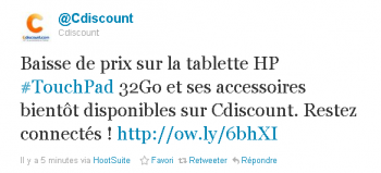 Touch Pad Cdiscount Twitter