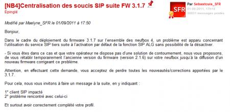 SFR Neufbox 3.1.7 SIP
