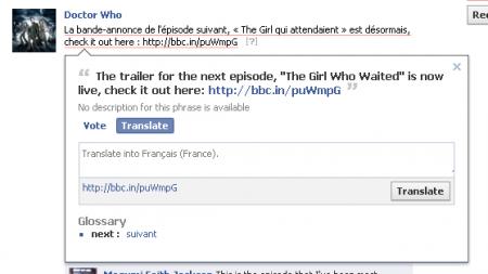 facebook traduction