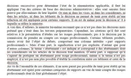 copie privée conclusion conseil d'Etat