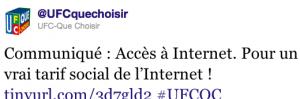 UFC Que Choisir internet tarif social
