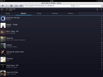 google music ipad