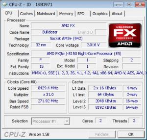 AMD Bulldozer Overclocking 8.4 GHz Validation