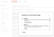 Google Sites bouton +1