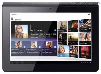 Sony Tablet S Face