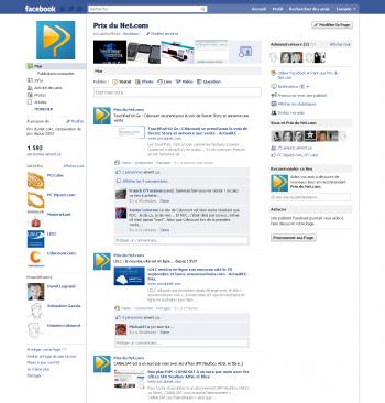 Facebook Page Prix du Net