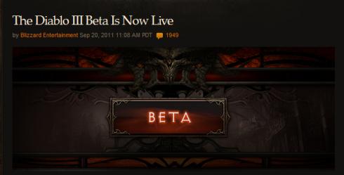 Diablo III beta ouverte