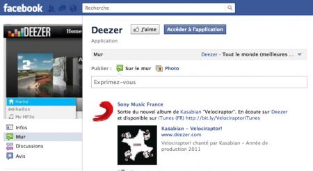 Deezer facebook
