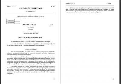 amendement tardy vente liée