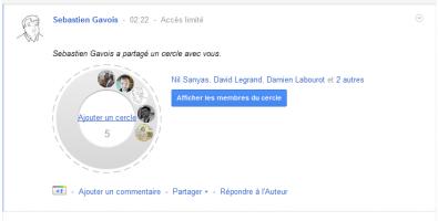 Facebook partager un cercle
