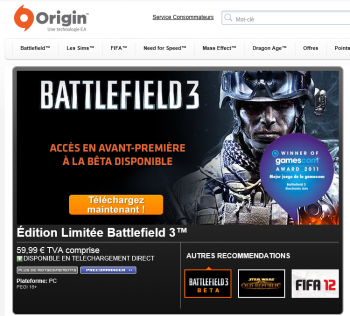 Origin Battlefield 3 Open Beta