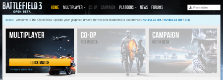 Battlefield 3 Open Beta Drivers